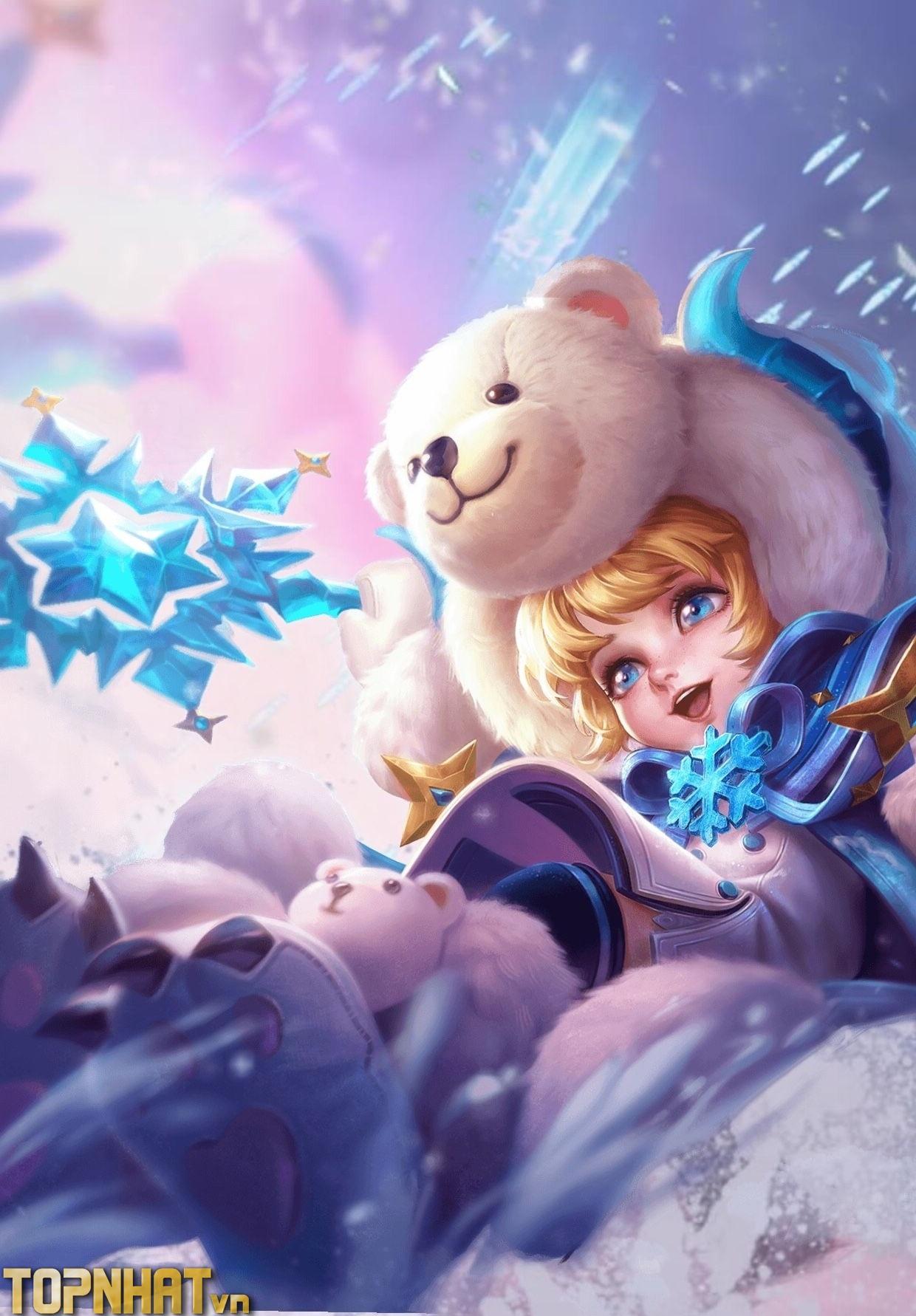 Alice Bé Gấu Tuyết Background
