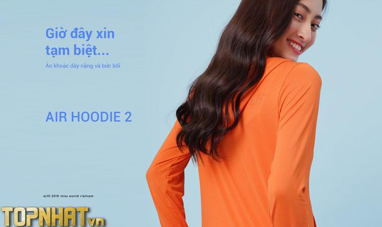 Áo khoác chống nắng Air Hoodie 2 Lime Orange