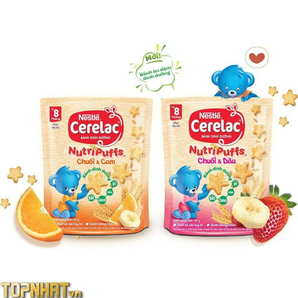 Bánh ăn dặm Nestle CERELAC Nutripuffs