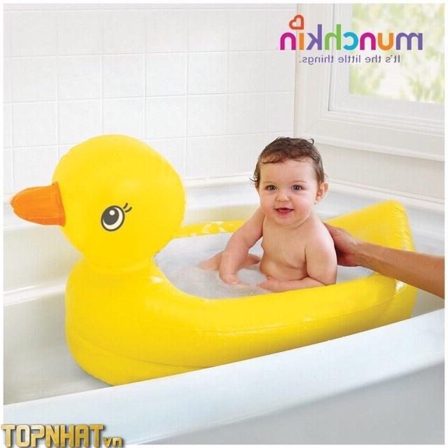 Chậu tắm phao bơi vịt vàng Munchkin