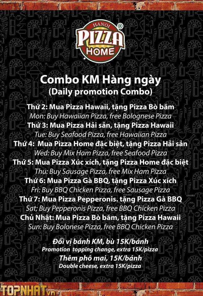 Combo Khuyến Mại của Pizza Home