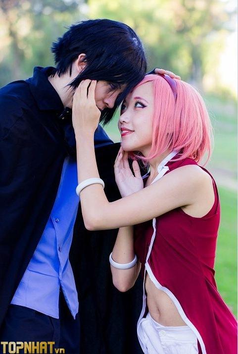 Cosplay Sakura và Sasuke đẹp