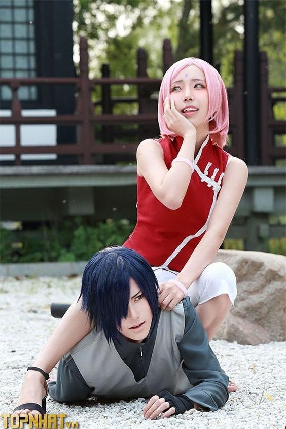 Cosplay Sakura và Sasuke Ảnh 3