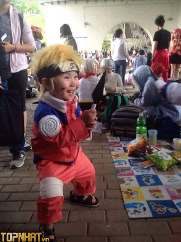 Cosplay Uzumaki Naruto lúc nhỏ cực dễ thương