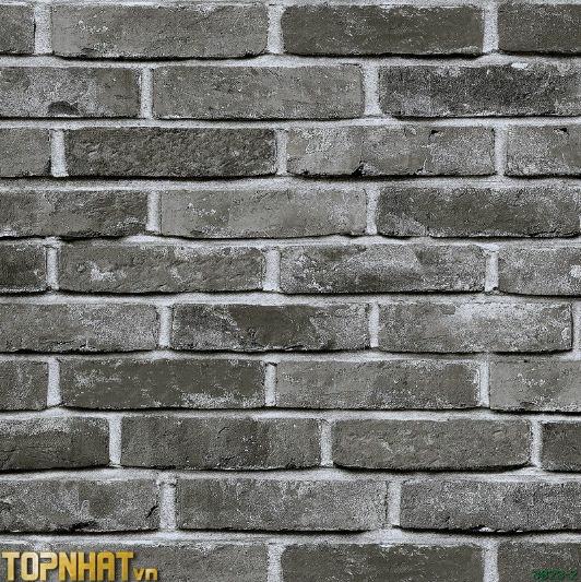 Giấy dán tường Hàn Quốc giả gạch xám