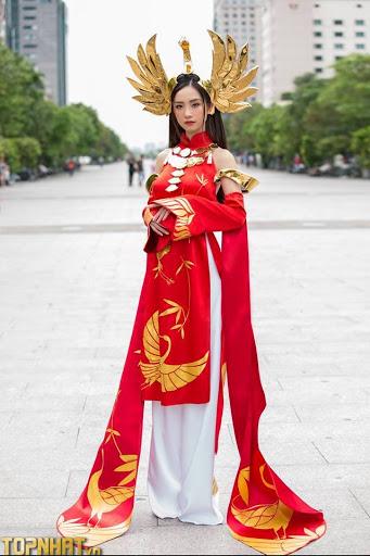 Jun Vũ Cosplay Ilumia Thiên Nữ Áo Dài
