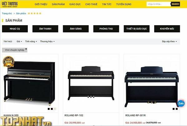 Mua Piano toàn quốc tại Việt Thương Music