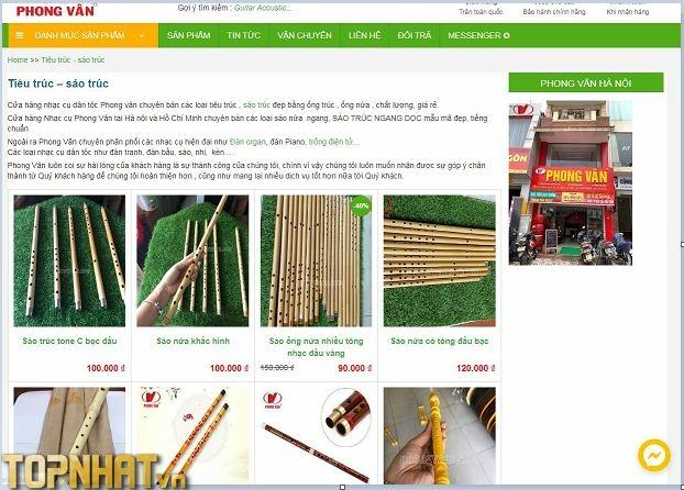 Mua sáo trúc tại Nhạc cụ Phong Vân