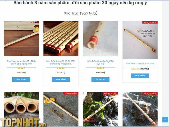 Mua sáo trúc tại shop sáo Di Linh