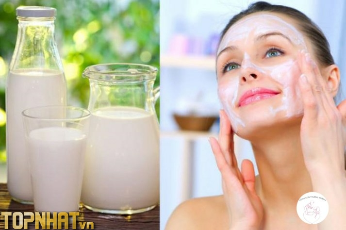Sử dụng sữa tươi không đường giúp trắng da hiệu quả
