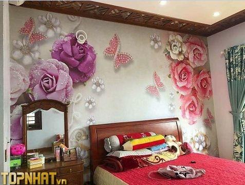 Tranh 5D dán tường phòng ngủ