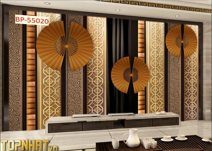 Tranh 5D hiện đại dán phòng khách