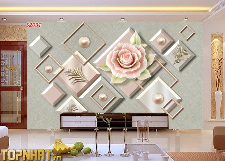 Tranh 5D hiện đại họa tiết Decor phòng khách
