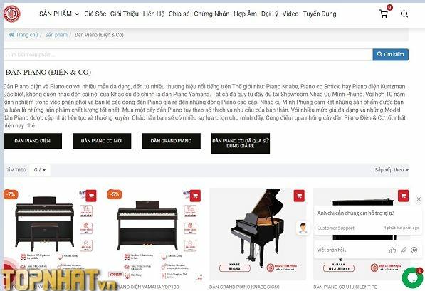 Website mua Piano tại Nhạc Cụ Minh Phụng