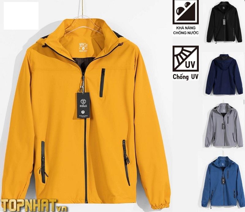 Áo khoác gió cao cấp 2 lớp, chất gió tráng bạc, chống nước,chống gió, ngăn tia UV tuyệt đối