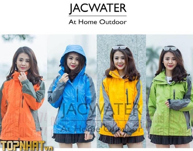 Áo khoác gió nam nữ 2 lớp chống nắng nước size châu á, vải gore tex thể thao JACWATER