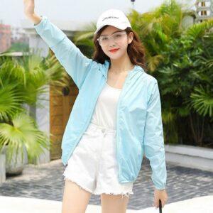 Áo khoác gió nữ MAIKA vải dù hai lớp lót lưới chống nước cực đẹp, phụ kiện thời trang nữ YUNA