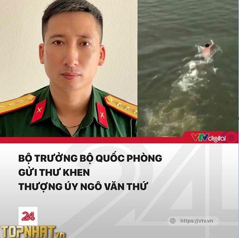 Bộ trưởng bộ quốc phòng gửi thư khen ngợi đồng chí Ngô Văn Thứ (Ảnh VTV24)