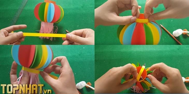 Cách làm lồng đèn hình quả cầu
