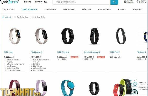 Chọn mua vòng tay thông minh tại Techzones