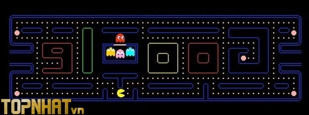 Chúng ta có thể chơi trò Pac-Man ngay trong cửa sổ doodle này