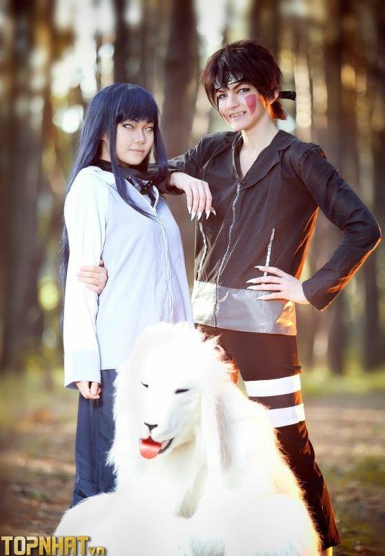 Cosplay Hinata - Kiba and Akamaru