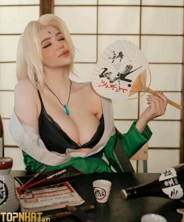 Cosplay Tsunade Hokage Đệ Ngũ sexy - Ảnh 12