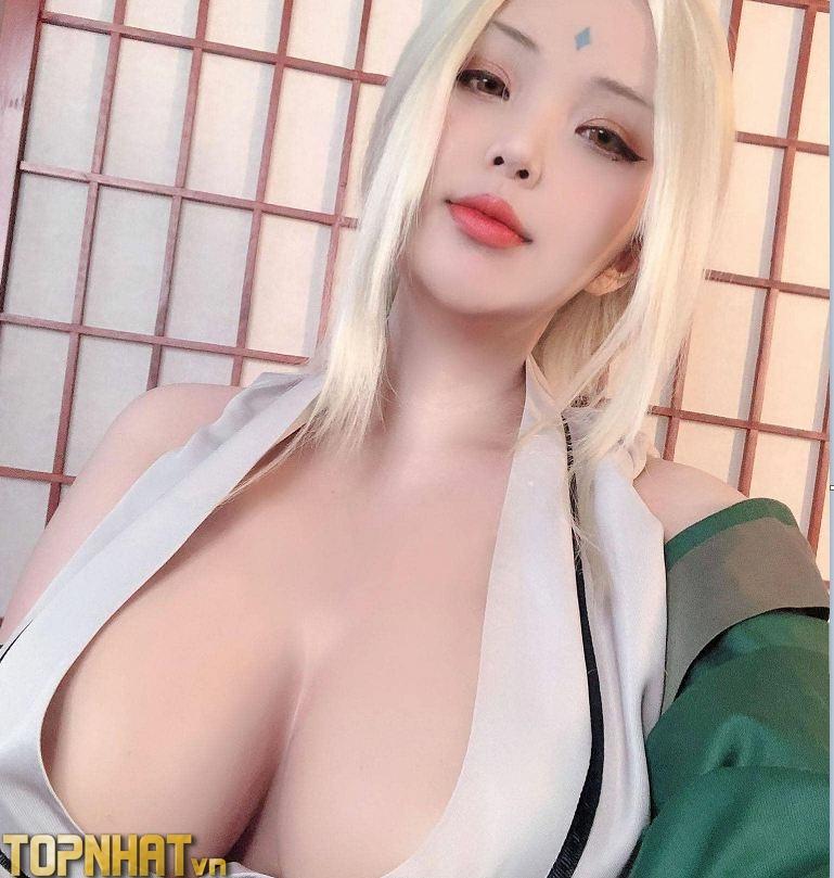Cosplay Tsunade Hokage Đệ Ngũ sexy - Ảnh 15