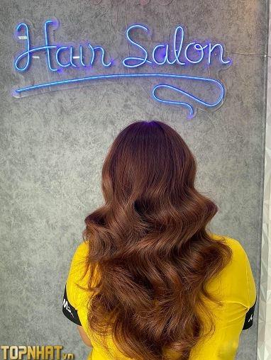 Giấy dán tường xi măng trang trí tiệm tóc