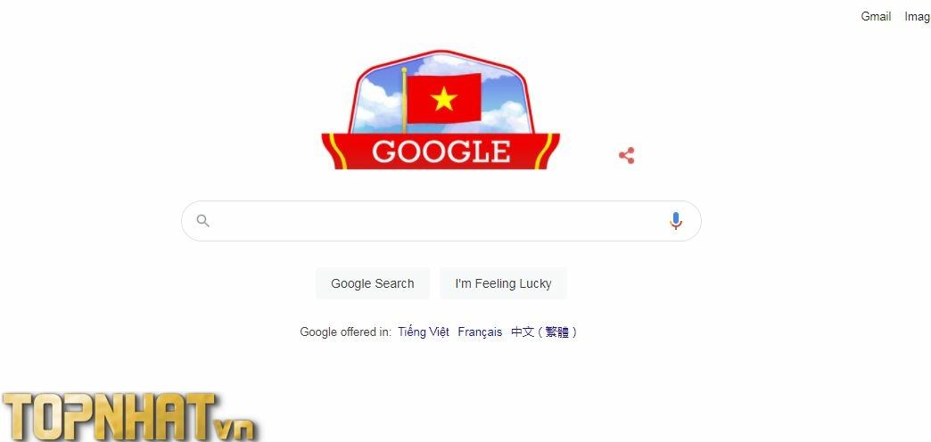 Google Doodle thay đổi nhân dịp QUốc khánh Việt Nam