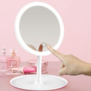 Gương led để bàn trang điểm KEENGSTORE, Gương đèn led cảm ứng 3 chế độ ánh sáng