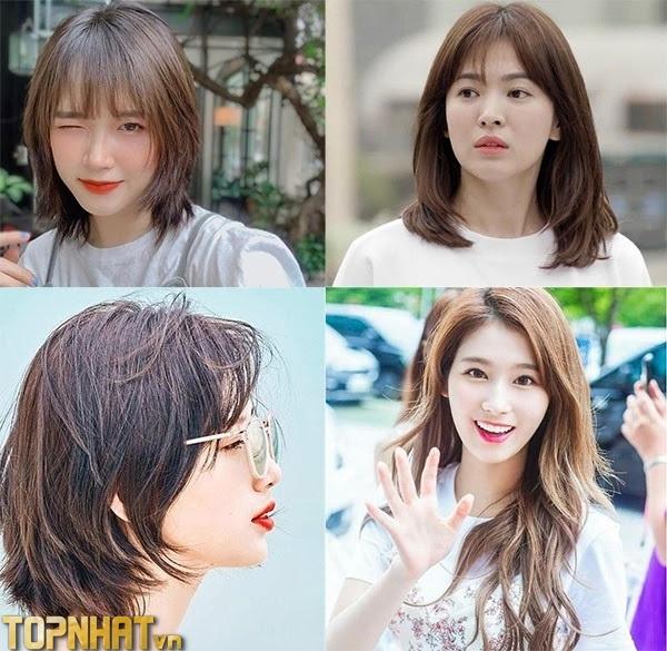 Kiểu tóc ngắn layer Hàn Quốc