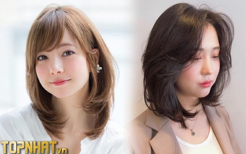 Kiểu tóc layer ngang vai