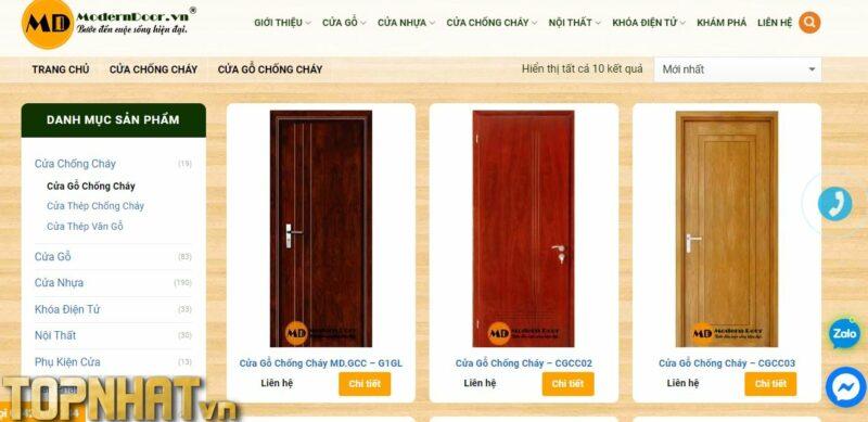 Modern Door với nhiều mẫu cửa gỗ chống cháy