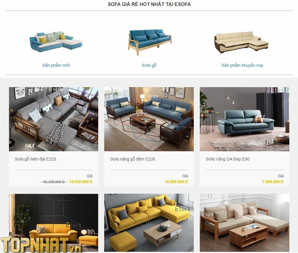 Mua sofa giá rẻ tại Esofa