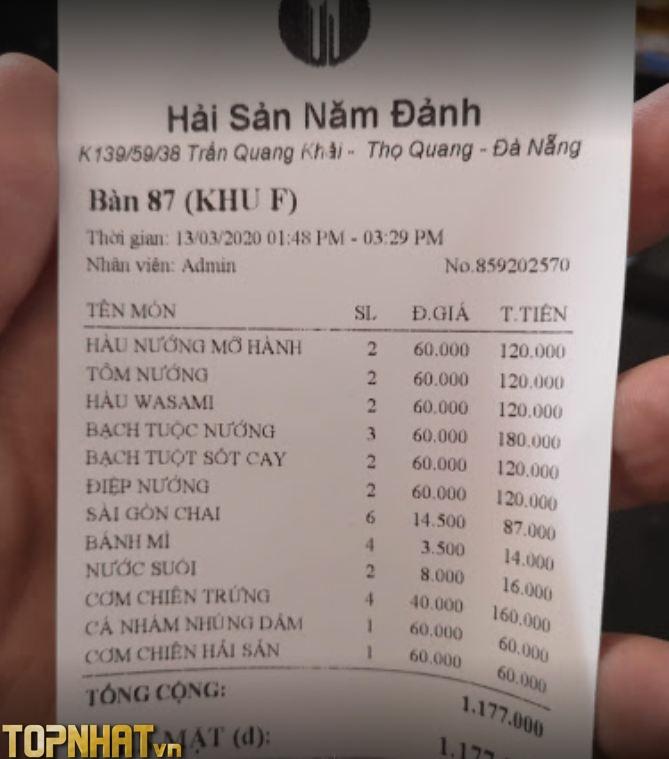 Năm Đảnh với menu đồng giá 60.000