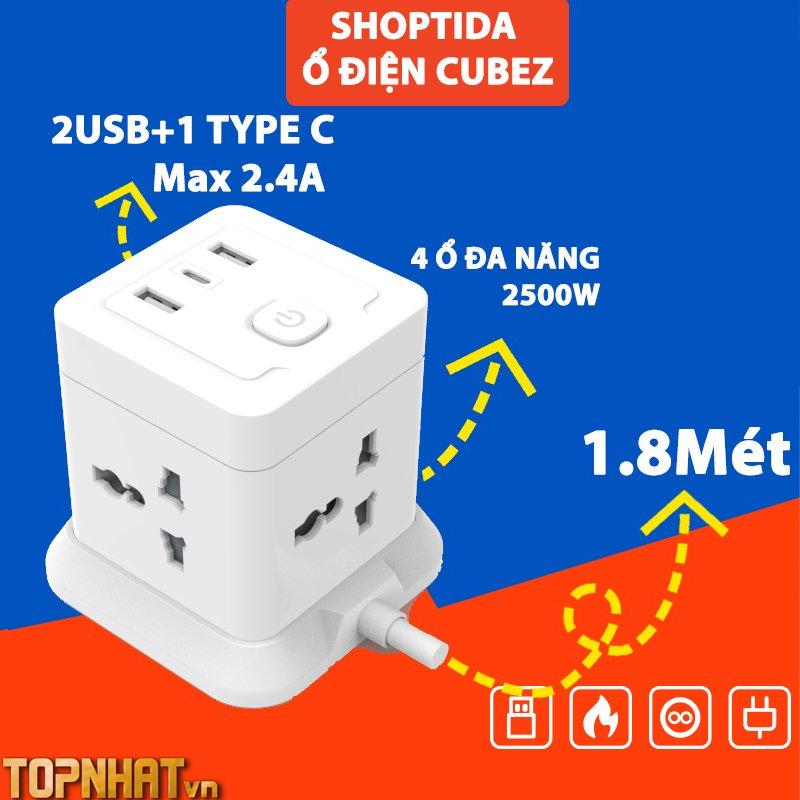 Ổ Cắm Điện Đa Năng CubeZ Shoptida