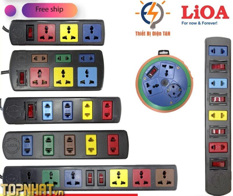 Ổ cắm điện LIOA, 4 lỗ 6 lỗ 8 lỗ 10 lỗ
