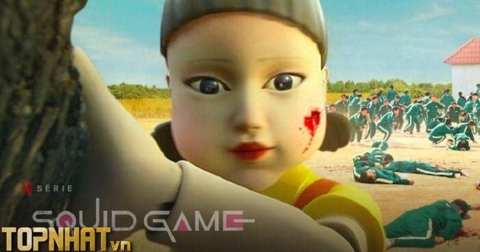 Phim Trò chơi con mực với màn đầu tiên làm theo chỉ dẫn búp bê