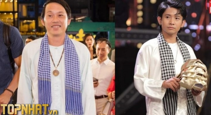 Ricky Star cosplay áo bà ba từ Hoài Linh