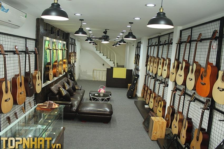 Showroom đàn Guitar thể hiện độ uy tín của thương hiệu