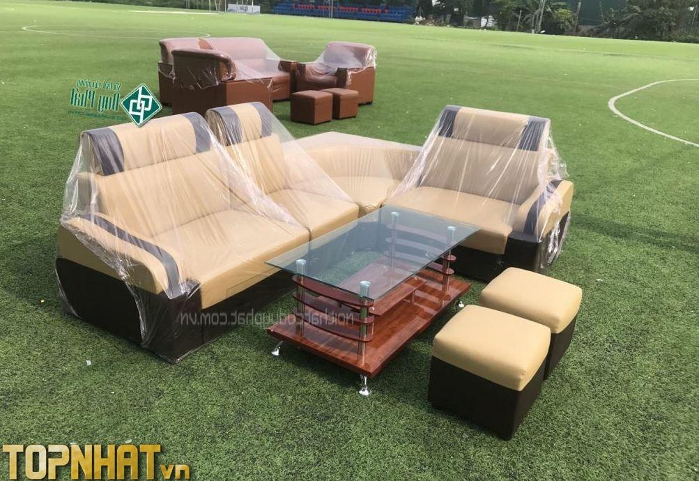 Sofa góc màu vàng giá rẻ tại Nội thất Duy Phát