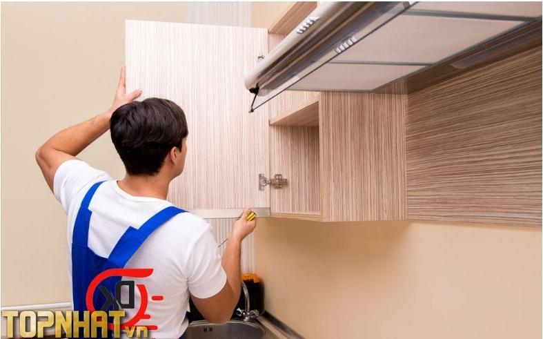 Sửa chữa tủ bếp tại nhà Đăng Khôi Hà Nội