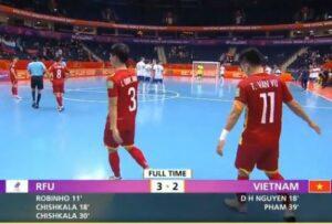 Tuyển Futsal Việt Nam thi đấu đầy kiên cường trước Futsal Nga
