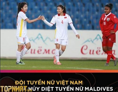 Tuyển nữ Việt Nam hủy diệt Maldives ở vòng loại Asian Cup