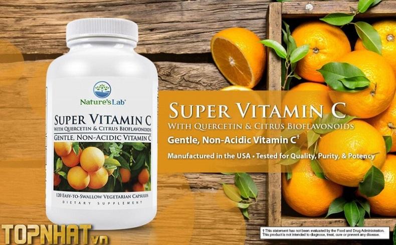 Viên nén vitamin C tăng sức đề kháng cho cơ thể Nature's Lab Super