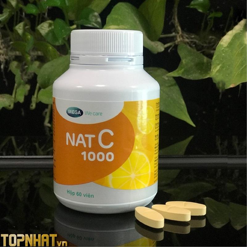 Viên uống Vitamin C 1000mg Nat C 30 viên của Thái Lan.